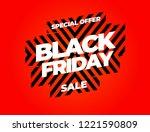 black friday sale inscription... | Shutterstock .eps vector #1221590809