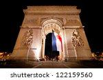 paris  arc de triomphe by night | Shutterstock . vector #122159560