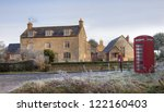 Cotswold Village With Phone Box