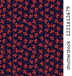modern graphic fabric print on... | Shutterstock .eps vector #1221612679