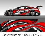 car decal graphic vector  wrap... | Shutterstock .eps vector #1221617176