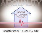indoor air quality testing  ... | Shutterstock . vector #1221617530
