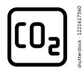 carbon dioxide emission | Shutterstock .eps vector #1221617560