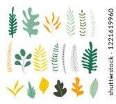 set of hand drawn uneven herbs... | Shutterstock .eps vector #1221619960