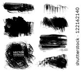 backgrounds of painted brush... | Shutterstock .eps vector #122162140