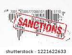 sanctions and trade wars... | Shutterstock .eps vector #1221622633