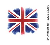 watercolor british flag | Shutterstock .eps vector #122162293
