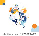 vector illustration. isometric... | Shutterstock .eps vector #1221624619