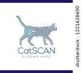 cat scan technology logo vector ...   Shutterstock .eps vector #1221628600