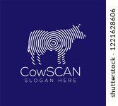 cow scan technology logo vector ...   Shutterstock .eps vector #1221628606