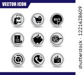 e commerce icon set vector...