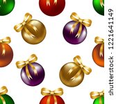 pattern with christmas decor....   Shutterstock .eps vector #1221641149