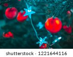 christmas  decorations on tree | Shutterstock . vector #1221644116