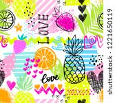 fashion tropics funny... | Shutterstock .eps vector #1221650119