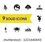 seasonal icons set with...