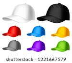 color baseball cap | Shutterstock .eps vector #1221667579
