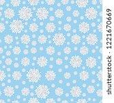 seamless christmas snowflakes... | Shutterstock .eps vector #1221670669
