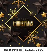 vector merry christmas and... | Shutterstock .eps vector #1221673630