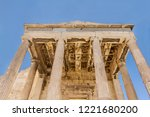 ancient building with columns... | Shutterstock . vector #1221680200