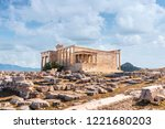 well saved ancient building in... | Shutterstock . vector #1221680203