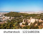 athens city panorama with... | Shutterstock . vector #1221680206