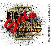 black friday sale background ... | Shutterstock .eps vector #1221681139