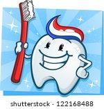 Dental Tooth Mascot Cartoon...