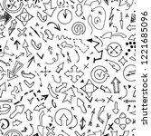 vector seamless arrow pattern... | Shutterstock .eps vector #1221685096