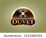 gold emblem or badge with air... | Shutterstock .eps vector #1221685333