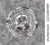 calves grey camouflage emblem | Shutterstock .eps vector #1221685489