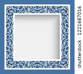 square photo frame  vector... | Shutterstock .eps vector #1221687016