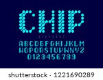 microcircuit style font ... | Shutterstock .eps vector #1221690289