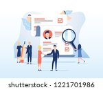 human resources  recruitment... | Shutterstock .eps vector #1221701986