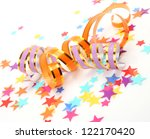 confetti and streamer | Shutterstock . vector #122170420