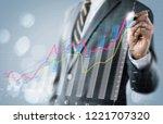 business growth  progress or... | Shutterstock . vector #1221707320