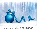 holiday background with blue... | Shutterstock . vector #122170840