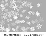 snow flakes falling macro... | Shutterstock .eps vector #1221708889