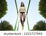outdoor sport beautiful strong... | Shutterstock . vector #1221717043