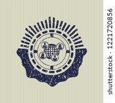 blue social network icon inside ... | Shutterstock .eps vector #1221720856