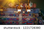 logistics and transportation of ... | Shutterstock . vector #1221728380