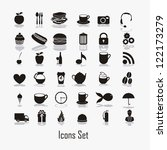 food icons illustration  icon... | Shutterstock .eps vector #122173279