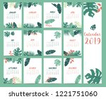 Doodle Calendar Set 2019 With...
