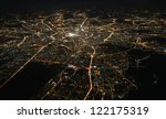 aerial view of moscow at night | Shutterstock . vector #122175319