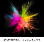 colored powder explosion on... | Shutterstock . vector #1221756796