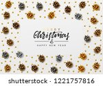 christmas background.... | Shutterstock .eps vector #1221757816
