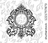 oriental vector damask patterns ... | Shutterstock .eps vector #1221757873