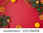 christmas holidays composition... | Shutterstock . vector #1221760450