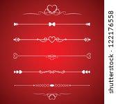 set calligraphic valentine's... | Shutterstock .eps vector #122176558