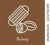 nutmeg and grater icon.... | Shutterstock .eps vector #1221766300