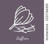 saffron crocus blossom and... | Shutterstock .eps vector #1221766303